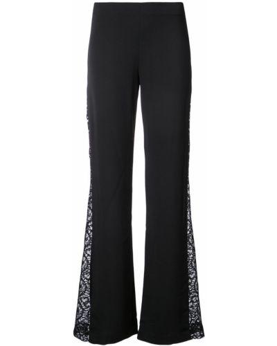 расклешенные брюки с боковыми кружевными вставками Alice+olivia