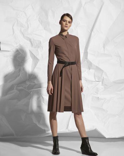 Платье с поясом из вискозы трансформер Vassa&co