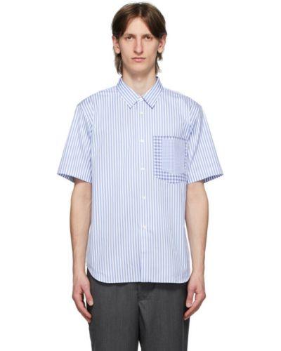Koszula krótki rękaw bawełniana w paski Comme Des Garcons Homme Deux