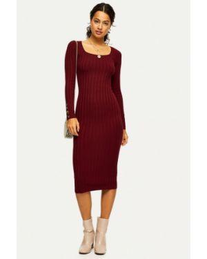 Платье бордовый вязаное Miss Selfridge