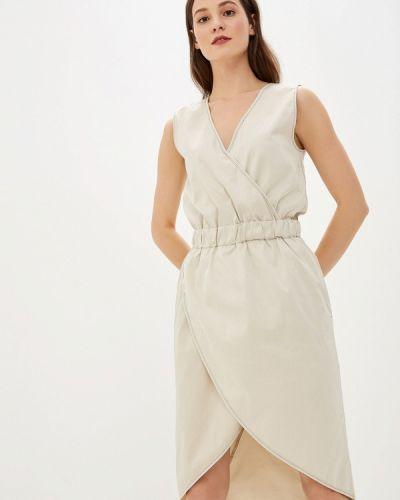 Платье прямое бежевое Alezzy Liriq