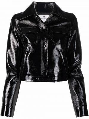 Czarna kurtka bawełniana Courreges
