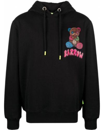 Czarna bluza długa z kapturem z długimi rękawami Barrow