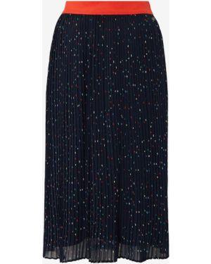 Плиссированная юбка джинсовая с поясом Tom Tailor