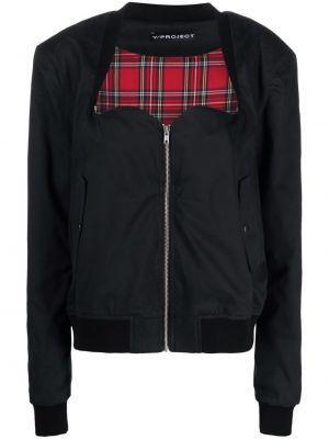 Ватная черная длинная куртка для полных Y/project