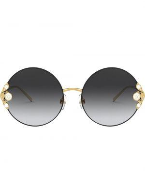 Prosto czarny okulary przeciwsłoneczne dla wzroku okrągły metal Dolce & Gabbana Eyewear