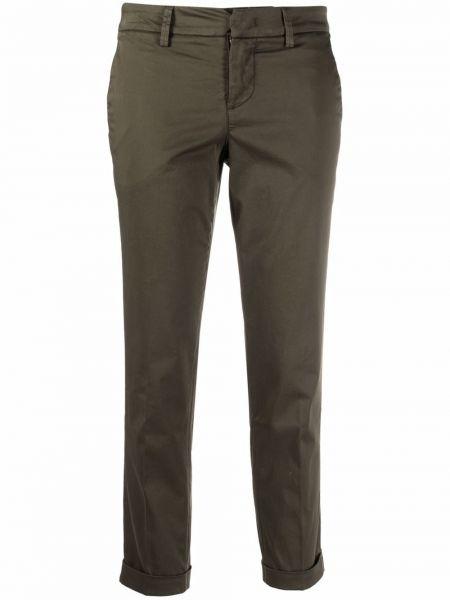Зеленые укороченные брюки Fay