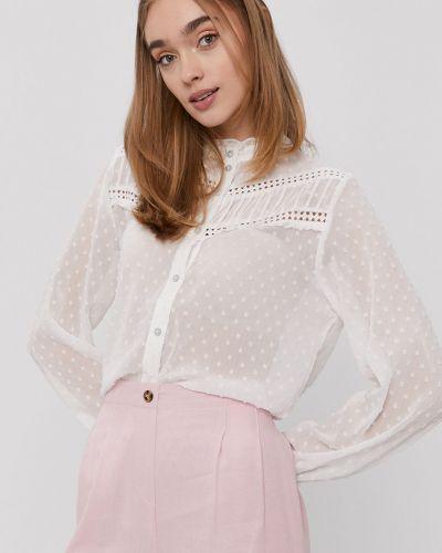 Biała bluzka ze stójką na co dzień Jacqueline De Yong