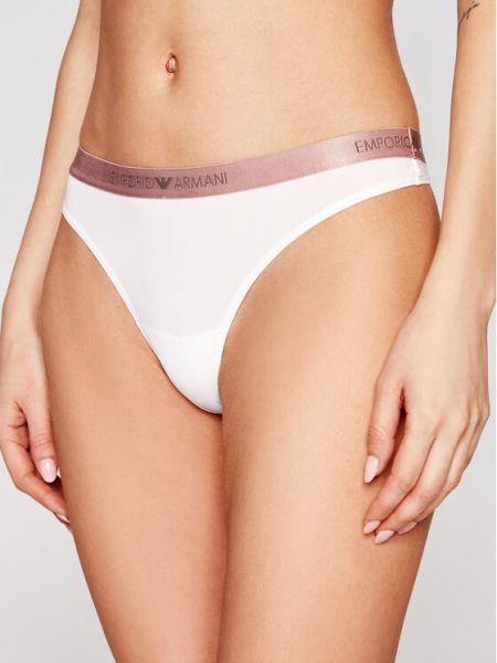 Stringi - białe Emporio Armani Underwear