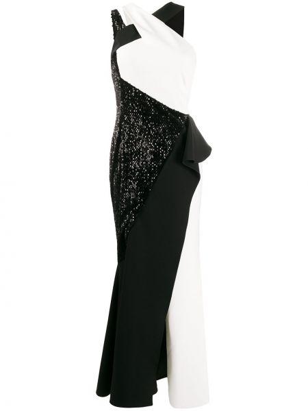 Асимметричное платье с пайетками с вырезом на молнии Avaro Figlio