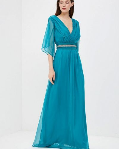 Вечернее платье бирюзовый испанский Bruebeck