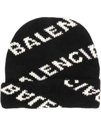 Biznes trykotowy wełniany biały trykotowy czapka Balenciaga