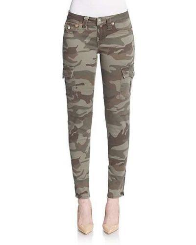 Зауженные брюки карго с карманами милитари True Religion