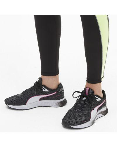 Спортивные черные кроссовки для бега на шнуровке закрытые Puma