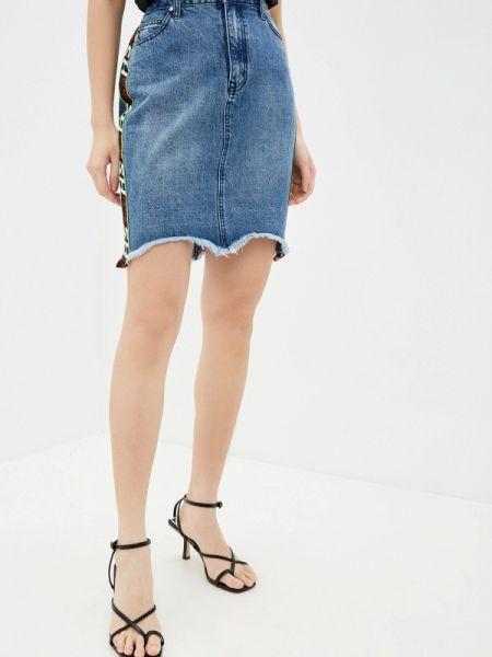 Синяя джинсовая юбка Sh