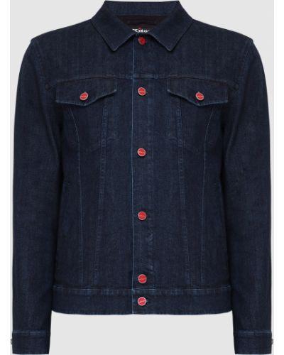 Синяя джинсовая куртка Kiton