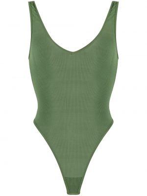 Body bez rękawów - zielony Maison Close