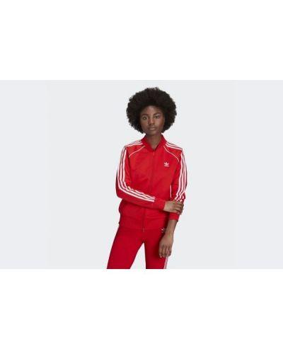 Czerwona kurtka dzianinowa Adidas