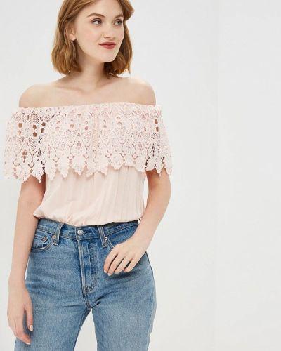 Блузка с открытыми плечами розовая Piazza Italia