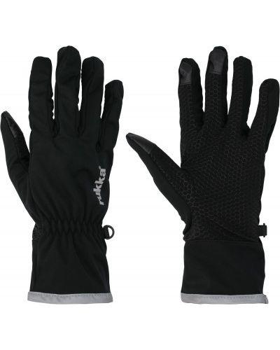 Мягкие черные перчатки софтшелл Rukka