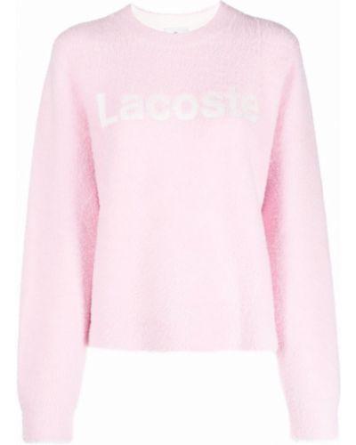 Джемпер с вырезом - розовый Lacoste