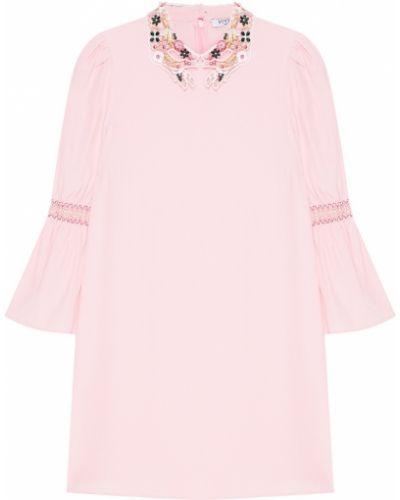 Платье розовое с цветочным принтом Vivetta