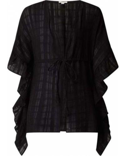 Czarny ponczo bawełniany Esprit