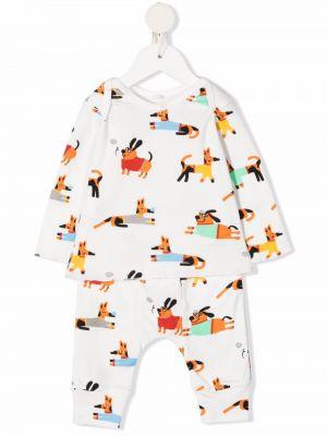 Białe spodnie z printem Stella Mccartney Kids