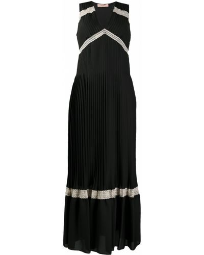 Кружевное черное платье без рукавов Twin-set