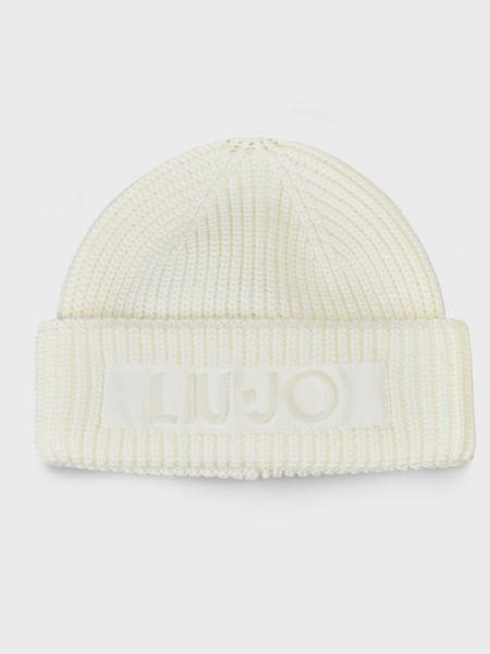 Акриловая белая шапка Liu Jo