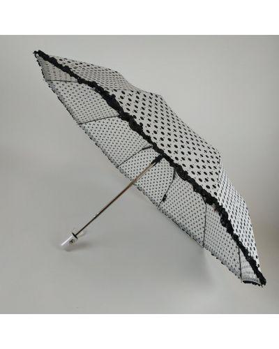 Белый зонт в горошек S&l