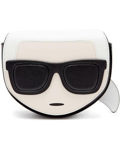 Кожаная сумка через плечо поясная Karl Lagerfeld