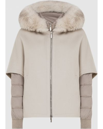 Пуховая куртка - серая Moorer