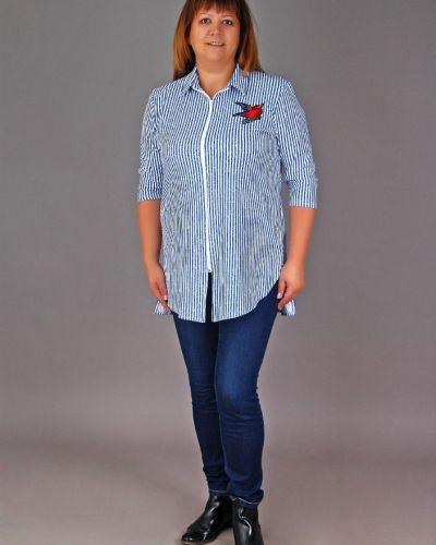 Рубашка с воротником-стойкой с вышивкой Грандсток