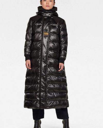 Утепленная черная куртка G-star