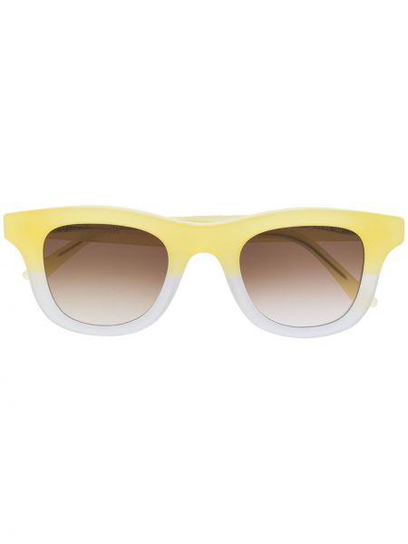Прямые муслиновые желтые солнцезащитные очки квадратные Thierry Lasry