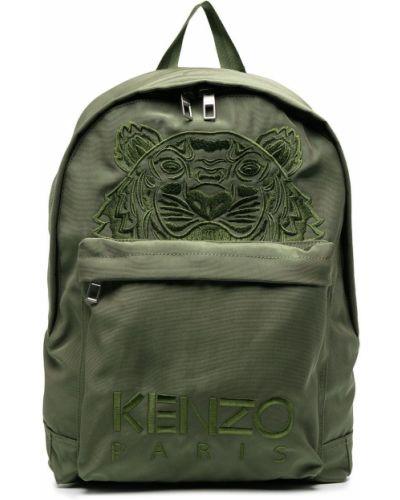Нейлоновый сумка на плечо с вышивкой хаки Kenzo