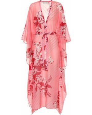 Кафтан шелковый с цветочным принтом Etro