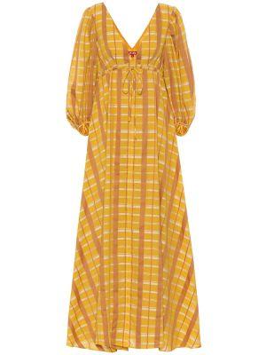 Платье макси винтажная в клетку Staud