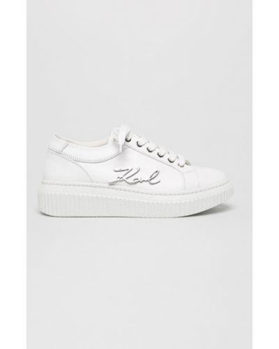 Кожаные кроссовки на шнуровке городские Karl Lagerfeld