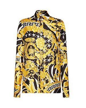 Рубашка желтый Versace