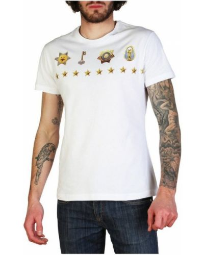 Bawełna z rękawami t-shirt z kieszeniami Versace Jeans Couture