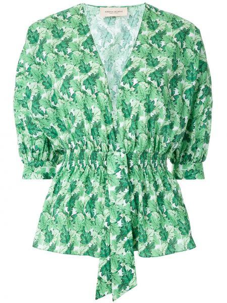 Хлопковый зеленый топ Adriana Degreas