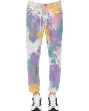 Niebieskie jeansy bawełniane z printem Klsh - Kids Love Stain Hands