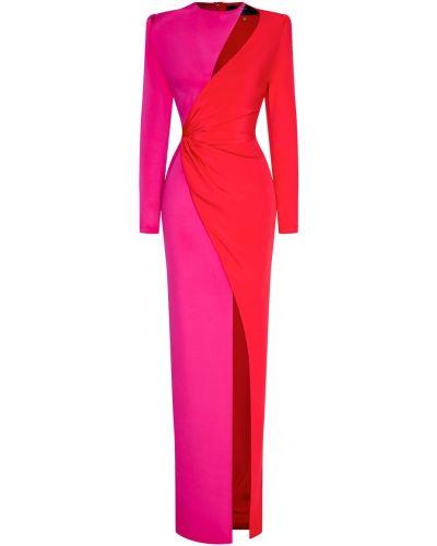 Платье макси розовое с драпировкой Maison Bohemique