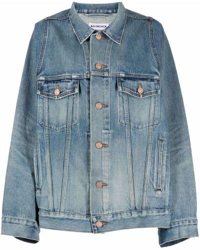Хлопковая джинсовая куртка - синяя Balenciaga