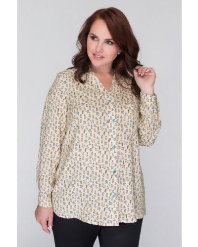 Рубашка с принтом деловая Olga Peltek