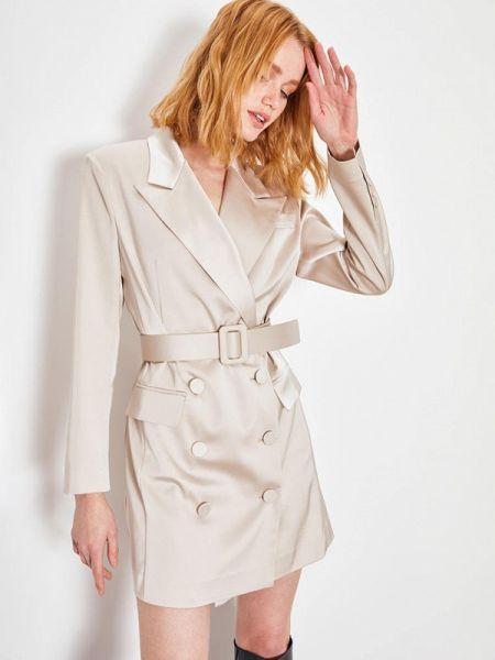 Платье платье-пиджак бежевое Lime