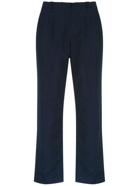 Прямые синие брюки с карманами Uma   Raquel Davidowicz