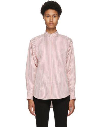 Шелковая белая рубашка в полоску Isabel Marant